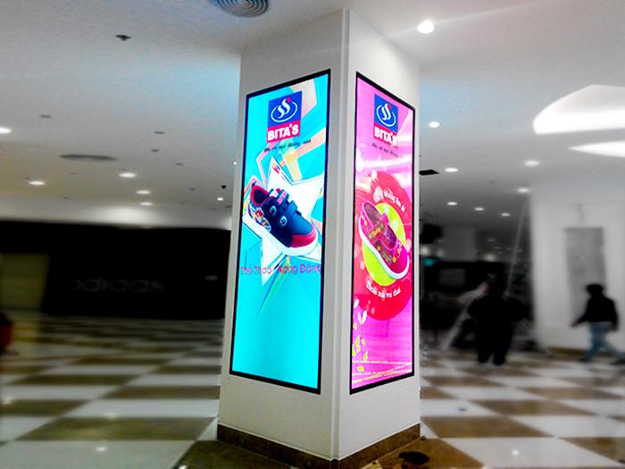 Hộp đèn quảng cáo sản phẩm trong siêu thị